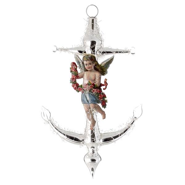 Ornament 39 anker mit oblate 39 marolin onlineshop for Nostalgische weihnachtskugeln