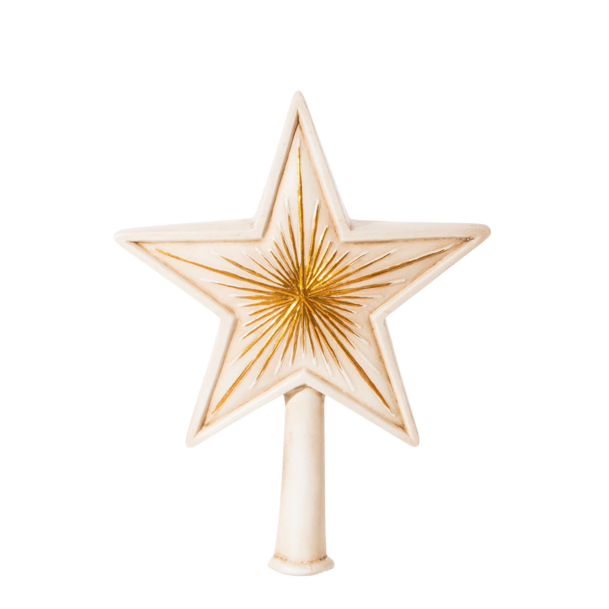christmas tree topper big star antique white marolin onlineshop english