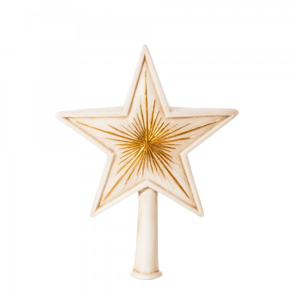 Christmas Tree Topper Big Star Antique White