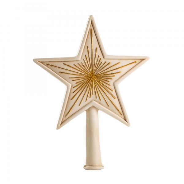 Baumspitze Großer Stern (antikweiß)